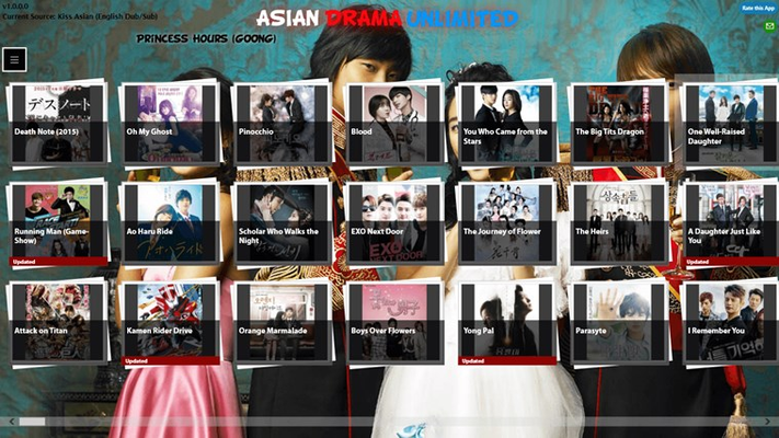 Select from over 1000 shows from China, Japan, South Korea and more!