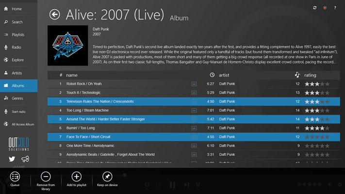 outcoldplayer for Windows 8
