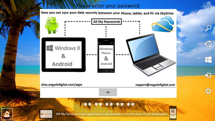 Now you can sync all your data securely between your tablet, laptop or PC, and phone.