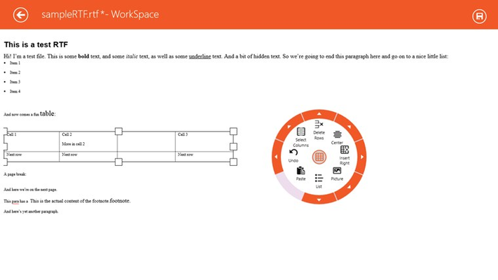 ComponentOne WorkSpace for Windows 8