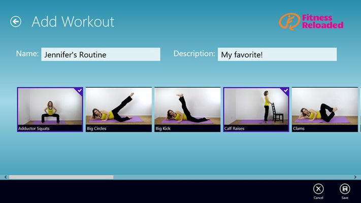 Choose your favorite exercises to create your own workout.