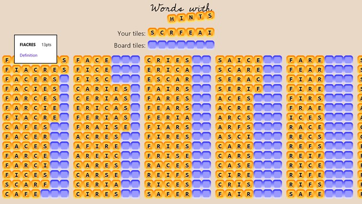 Words with Hints for Windows 8