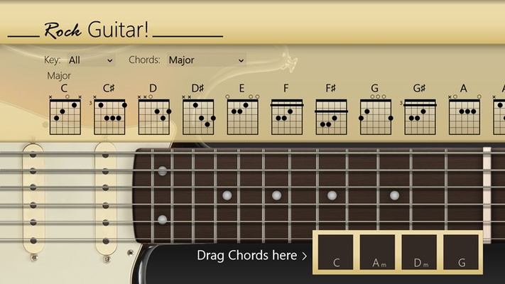 Selector to easily play chords