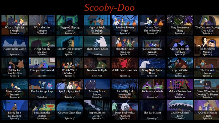 Episodes from Scooby-Doo Where are you?