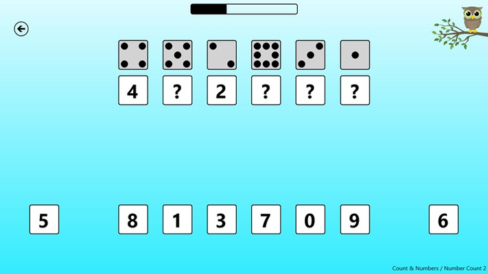 One of the counting and number games.