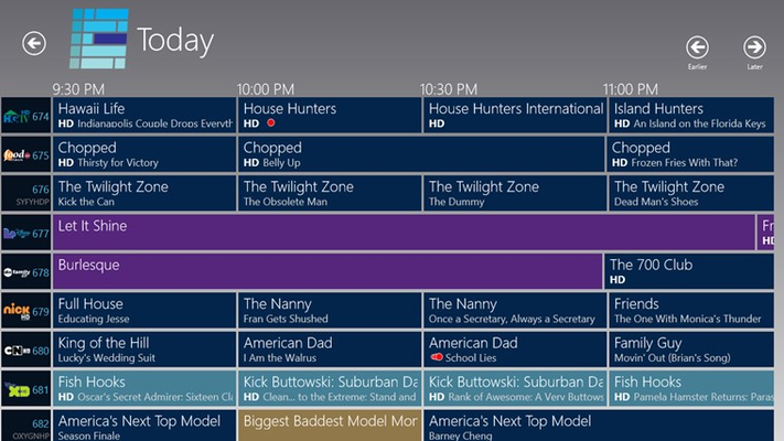 Full television guide