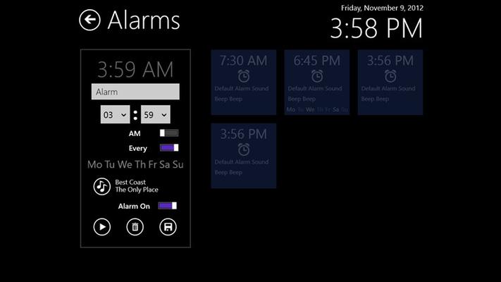 Edit alarm.