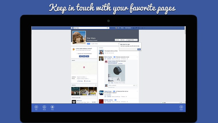 Social Pro - Tab for Facebook for Windows 8