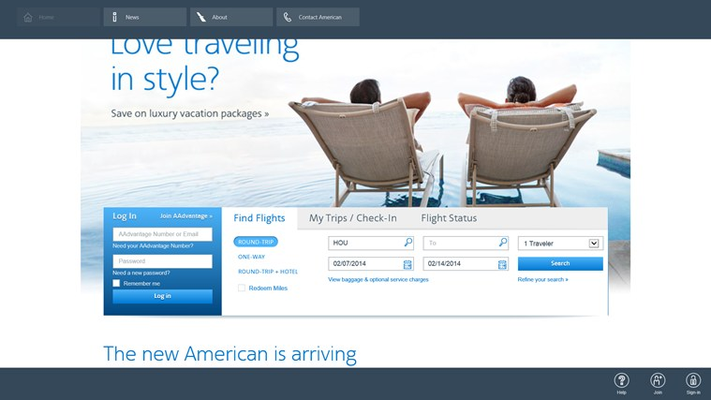 Easy access to frequent destinations and to your account