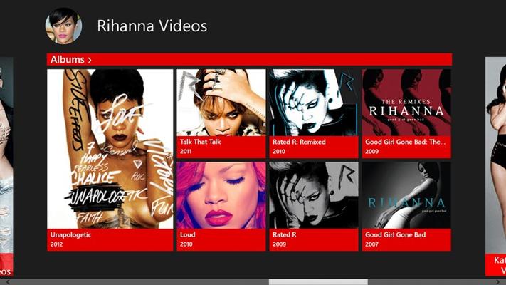Rihanna Videos for Windows 8