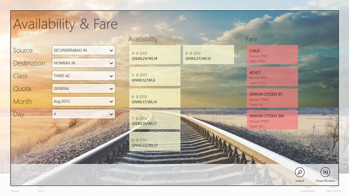 Availability and Fare Search