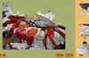A puzzle of a crab, almost completed