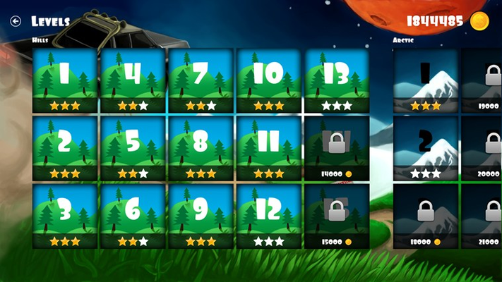 Complete levels and unlock level packs