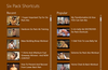 Six Pack Shortcuts for Windows 8