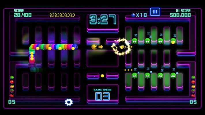 Ghosts that follow PAC-MAN in a row!