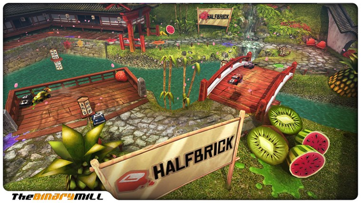 Exclusive Fruit Ninja content including tracks and cars!