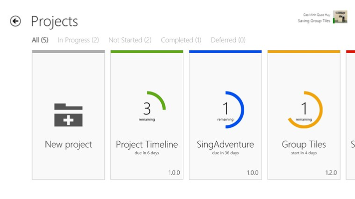Project Timeline for Windows 8
