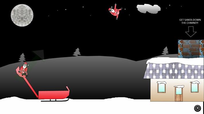 Shoot Santa into the chimney