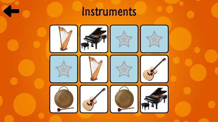 The instruments game in normal mode.