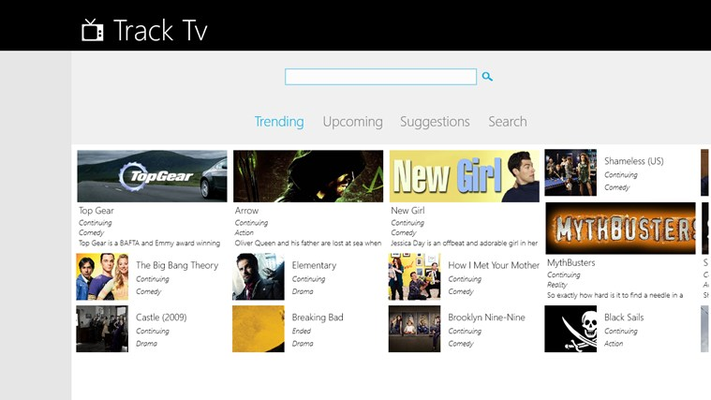 Click the Trending Tab to view the Trending Tv Series