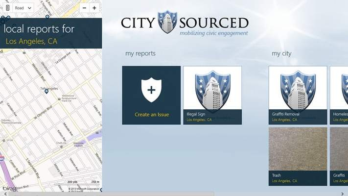 CitySourced for Windows 8