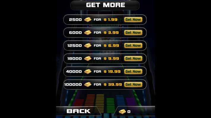 Purchase the coins via Store!