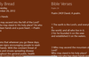 Daily Bread content and referenced bible verses side by side