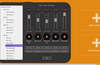 Tap the double-note icon to assign sounds to the tracks.