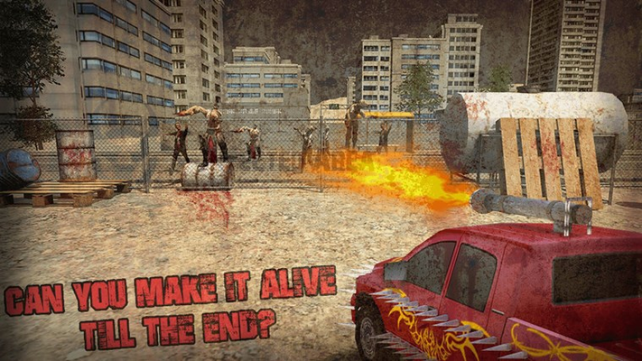 Crazy Zombies Car Wars 3D for Windows 8