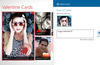 Share your cards using the Windows 8 Share charm