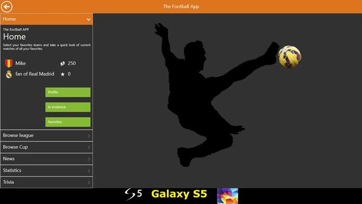 the UNIVERSAL football app!