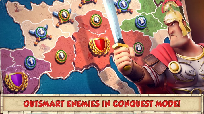 Outsmart enemies in Conquest mode!