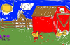 example scene colored by a child