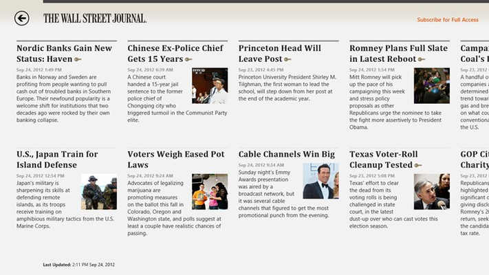 The Wall Street Journal. for Windows 8