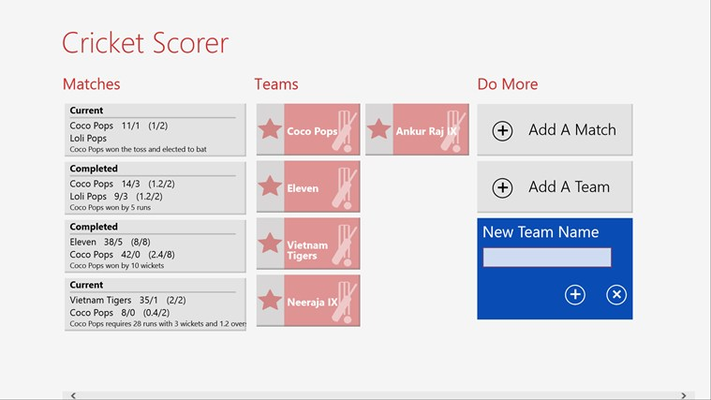 Adding Team on Home Screen