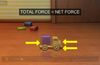 Watch an animation that explains the effects of net force on both stationary objects and objects already in motion.