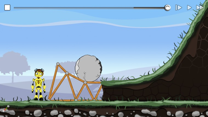 If you can't stop a boulder rolling down a hill, why not ramp it over your head?