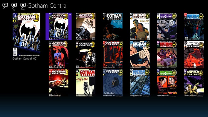 Covers of your own library folder can be seen in grid mode.