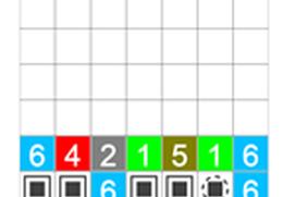 Drop number puzzle