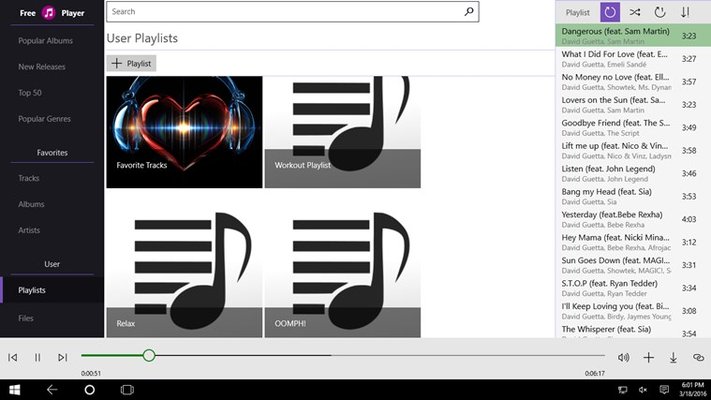 Free Music Player Online - Stream music and download mp3 for Windows 8