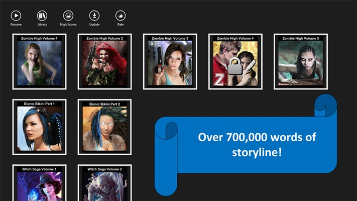 Over 700,000 words, you'll have countless hours of immersive story.