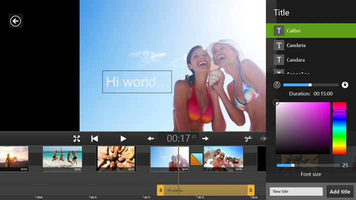 Intuitive title editor: Add commentary to any scene