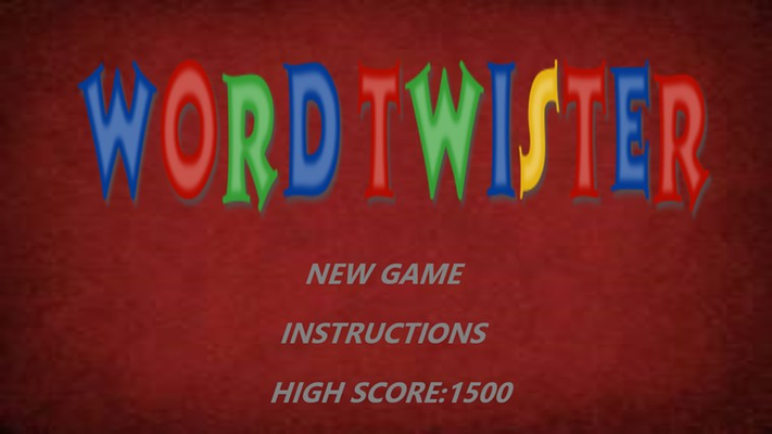 Download Word Twister and get start