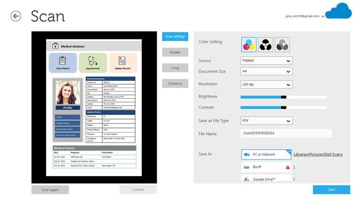 Dell Document Hub for Windows 8