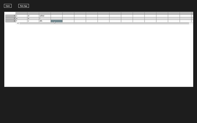 View Excel files. Supports simple Excel formulas