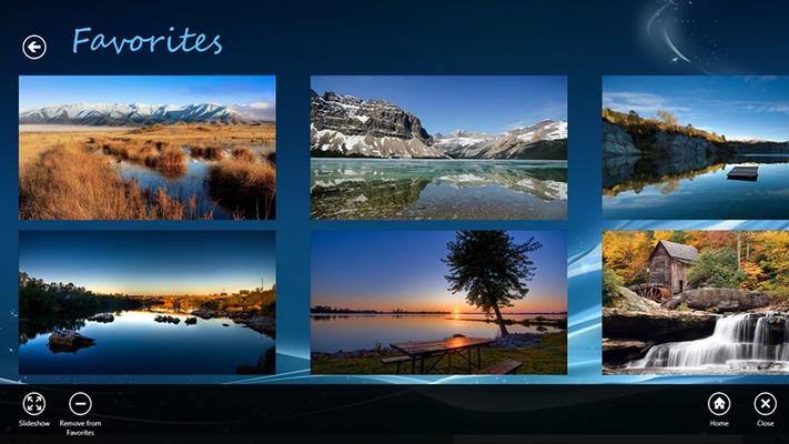 Favorites: manage your list of favorites wallpaper images