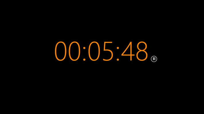 Clock is 'orange' indicating less than 10 minutes remaining