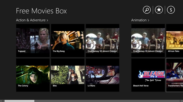 Free Movies Box for Windows 8
