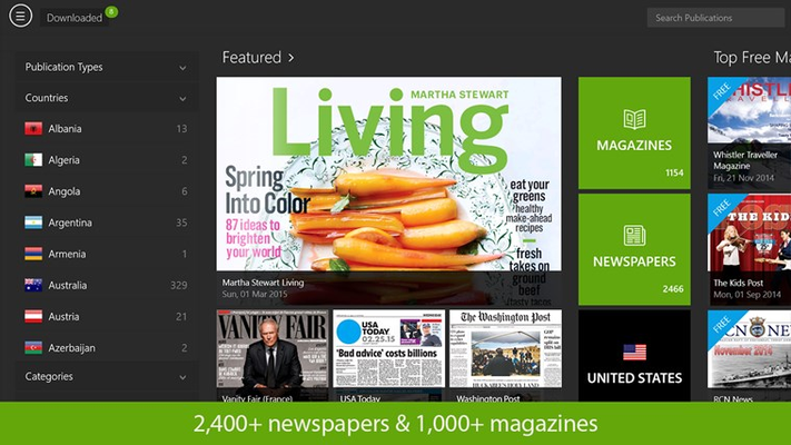 PressReader for Windows 8