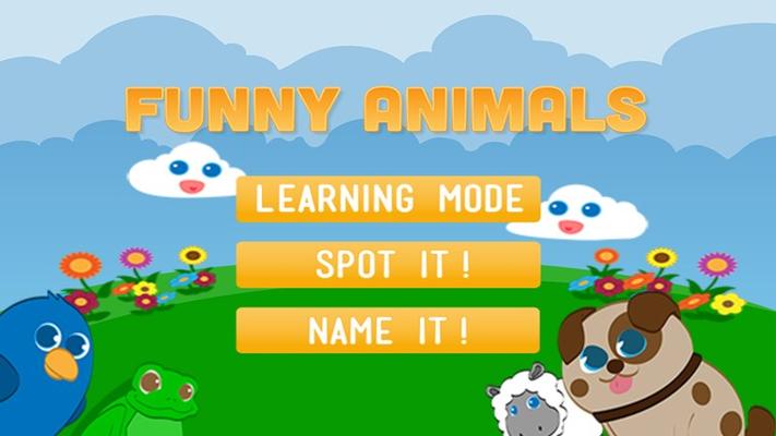 Animated game menu